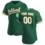 Men's Oakland Athletics Custom Nike Kelly Green Alternate 2020 Authentic Flexbase MLB Jersey(Name and number remark in comment column)