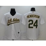 MLB Oakland Athletics #24 Rickey Henderson White 2020 Nike Cool Base Jersey