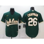 MLB Oakland Athletics #26 Matt Chapman Green 2020 Nike Cool Base Jersey