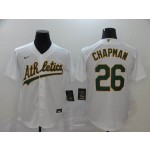 MLB Oakland Athletics #26 Matt Chapman White 2020 Nike Cool Base Jersey