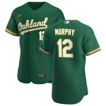 Men's Oakland Athletics #12 Sean Murphy Nike Kelly Green Alternate 2020 Authentic Player MLB Jersey