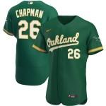 Men's Oakland Athletics #26 Matt Chapman Nike Kelly Green Alternate 2020 Authentic Player MLB Jersey