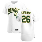 Men's Oakland Athletics #26 Matt Chapman Nike White Home 2020 Authentic Player MLB Jersey