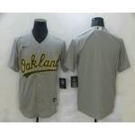 Men's Oakland Athletics Blank Grey Stitched MLB Cool Base Nike Jersey