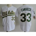 Men's Throwback Oakland Athletics #24 Rickey Henderson White 1989 Mitchell & Ness Jersey