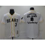 The Bad News Bears #3 Kelly Leak White Chico's Bail Bonds Movie Baseball Jersey