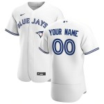 Men's Toronto Blue Jays Custom Nike White Home 2020 Authentic Flexbase MLB Jersey(Name and number remark in comment column)