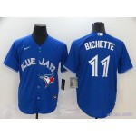 MLB Toronto Blue Jays #11 Bo Bichette Royal Blue 2020 Nike Cool Base Jersey