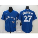 MLB Toronto Blue Jays #27 Vladimir Guerrero Jr. Royal Blue 2020 Nike Cool Base Jersey