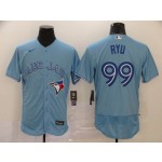MLB Toronto Blue Jays #99 Hyun Jin Ryu light Blue 2020 Nike FlexBase Jersey