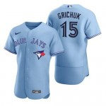 Men's Toronto Blue Jays #15 Randal Grichuk Nike Light Blue Alternate 2020 Authentic Player MLB Jersey