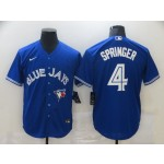 Men's Toronto Blue Jays #4 George Springer Blue Stitched MLB Cool Base Nike Jersey