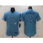 Men's Toronto Blue Jays #4 George Springer Light Blue Stitched MLB Flex Base Nike Jersey