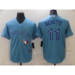 MLB Toronto blue  jays #11 Bo Bichette light blue 2020 nike cool base jersey