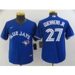 Youth Toronto Blue Jays #27 Vladimir Guerrero Jr. Blue Cool Base Jersey