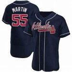 Men's Atlanta Braves #55 Chris Martin Nike Navy Alternate 2020 Authentic Player MLB Jersey