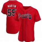 Men's Atlanta Braves #55 Chris Martin Nike Red Alternate 2020 Authentic Player MLB Jersey