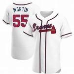 Men's Atlanta Braves #55 Chris Martin Nike White Home 2020 Authentic Player MLB Jersey
