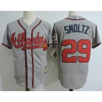 Men's Throwback Atlanta Braves #29 John Smoltz Grey Jersey