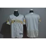 MLB Milwaukee Brewers Blank Grey 2020 Nike Flexbase Jersey