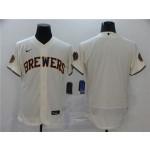 MLB Milwaukee Brewers Blank Cream 2020 Nike Flexbase Jersey