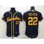 MLB Milwaukee Brewers #22 Christian Yelich Navy 2020 Nike Flexbase Jersey