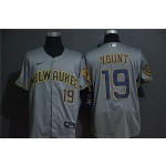 MLB Milwaukee Brewers #19 Robin Yount Grey 2020 Nike Flexbase Jersey