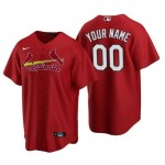 Men's St. Louis Cardinals Custom Red Alternate Cool Base Jersey(Name and number remark in comment column)