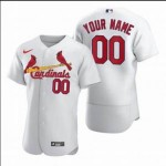 Men's St. Louis Cardinals Custom White Home 2020 Authentic Flexbase MLB Jersey(Name and number remark in comment column)