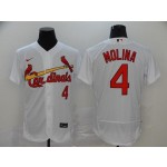 MLB St.Louis Cardinals #4 Yadier Molina White 2020 Nike Flexbase Jersey