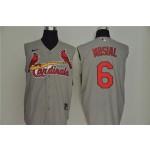 MLB St.Louis Cardinals #6 Stan Musial Gray Nike Cool Base Sleeveless Jersey