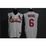 MLB St.Louis Cardinals #6 Stan Musial White Nike Cool Base Sleeveless Jersey