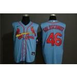 MLB St.Louis Cardinals #46 Paul Goldschmidt Light Blue Nike Cool Base Sleeveless Jersey