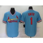 MLB St.Louis Cardinals #1 Ozzie Smith Light Blue Nike Throwback Jersey