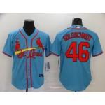 MLB St.Louis Cardinals #46 Paul Goldschmidt Light Blue Nike Cool Base Jersey