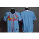 MLB St.Louis Cardinals Blank Light Blue 2020 Nike Flexbase Jersey