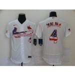 MLB St.Louis Cardinals #4 Yadier Molina White 2020 Nike USA Flag Fashion Jersey