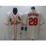 MLB St.Louis Cardinals #28 Nolan Arenado White 2020 Nike Cool Base Jersey