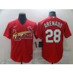 MLB St.Louis Cardinals #28 Nolan Arenado Red 2020 Nike Cool Base Jersey