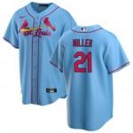 Men's St. Louis Cardinals #21 Andrew Miller Nike Light Blue Alternate 2020 Coolbase Jersey