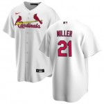 Men's St. Louis Cardinals #21 Andrew Miller Nike White Home 2020 Coolbase Jersey