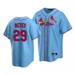 Men's St. Louis Cardinals #29 Alex Reyes Nike Light Blue Alternate 2020 Coolbase Jersey