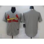 Men's St. Louis Cardinals grey Blank Nike Coolbase Jersey