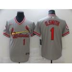 Men St.Louis Cardinals #1 O.Smith Grey Game 2021 Nike MLB Jersey