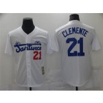 Santurce Crabbers #21 Roberto Clemente White Baseball Jersey