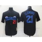 Santurce Crabbers #21 Roberto Clemente Black Baseball Jersey