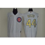 MLB Chicago Cubs #44 Anthony Rizzo White Gold Nike Cool Base Sleeveless Jersey