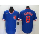 MLB Chicago Cubs #8 Andre Dawson Blue Nike Gold Cool base Jersey