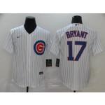MLB Chicago Cubs #17 Kris Bryant White 2020 Nike Cool Base Jersey