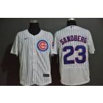 MLB Chicago Cubs #23 Ryne Sandberg White 2020 Nike Flexbase Jersey